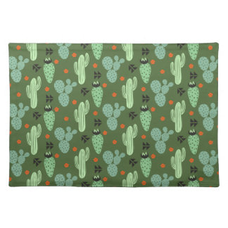 Abstract Hipster Cactus  Desert Pattern Placemat