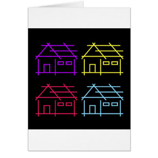 Abstract home for real estate or architecture firm card
