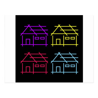 Abstract home for real estate or architecture firm postcard