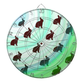 Abstract Hopping Bunnies Dartboard