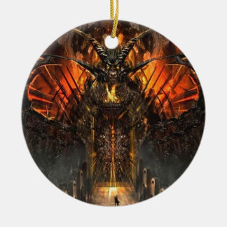 Abstract Horror Approach The Gates Of Hell Round Ceramic Ornament
