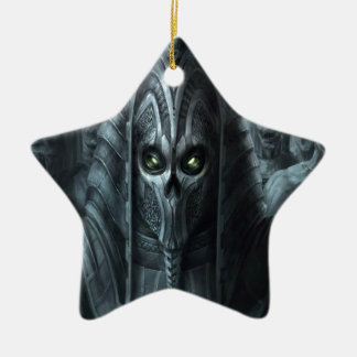 Abstract Horror Aztec Zombie Army Ceramic Star Ornament