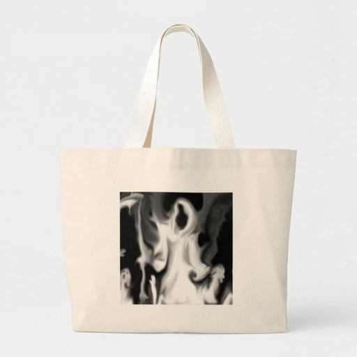Abstract Horror Blurred Ghost Vision Canvas Bag