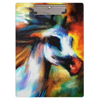 Abstract Horse Art Beautiful Gray White equestrian Clipboard