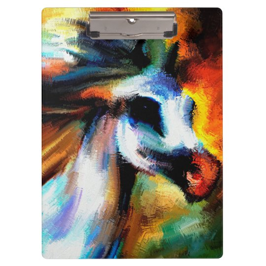 Abstract Horse Art Beautiful Grey White equestrian Clipboard