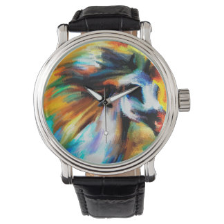 Abstract Horse Art Beautiful White GrayEquine Wrist Watch