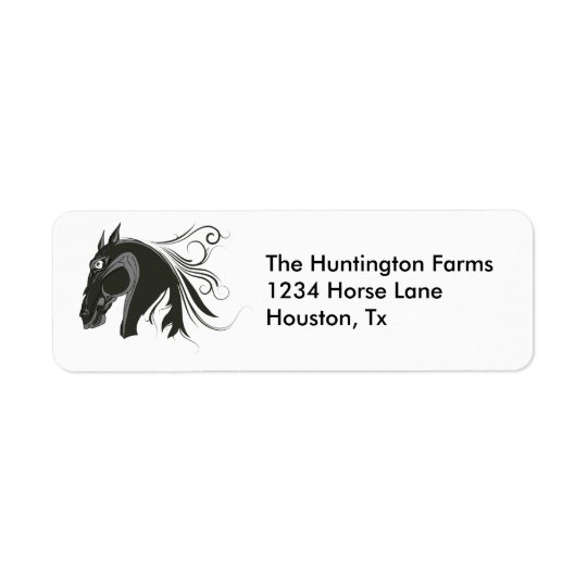 Abstract Horse Return Address Label