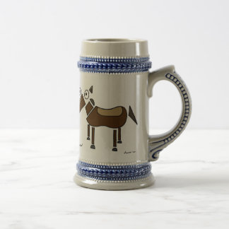 Abstract Horse Stein