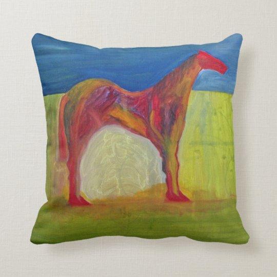 Abstract Horse Throw Pillow