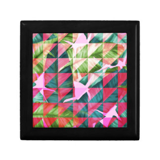 Abstract Hot Pink Banana Leaves Design Gift Box