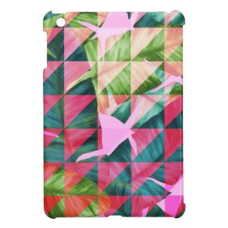 Abstract Hot Pink Banana Leaves Design iPad Mini Cases