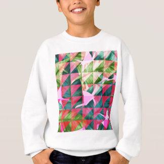 Abstract Hot Pink Banana Leaves Design Sweatshirt