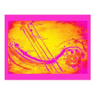Abstract 'Hot pink' postcard