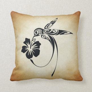 Abstract Humingbird Throw Pillow
