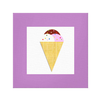 Abstract Ice Cream Canvas Print