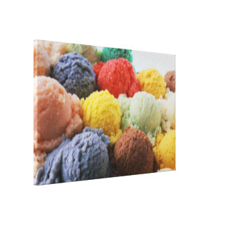 Abstract Ice Cream Dreams Stretched Canvas Print