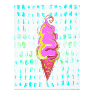 Abstract Ice Cream Letterhead Template