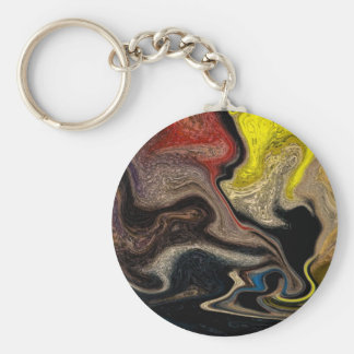abstract image basic round button keychain
