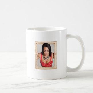 Abstract image of a beautiful woman coffee mug