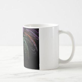 Abstract image of bird basic white mug