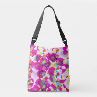 Abstract  image  pink cross body  bag