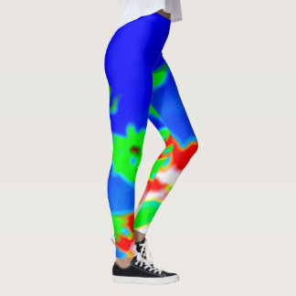 abstract image with lisérgicas colors leggings