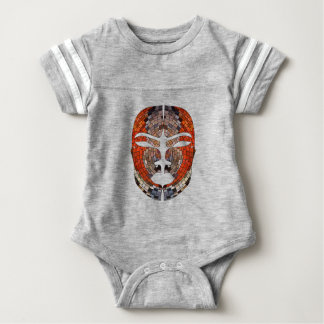 Abstract imitation of African mask Baby Bodysuit