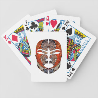 Abstract imitation of African mask Bicycle Playing Cards
