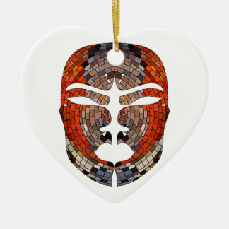 Abstract imitation of African mask Ceramic Ornament