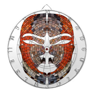 Abstract imitation of African mask Dartboard