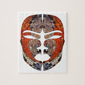 Abstract imitation of African mask Jigsaw Puzzle