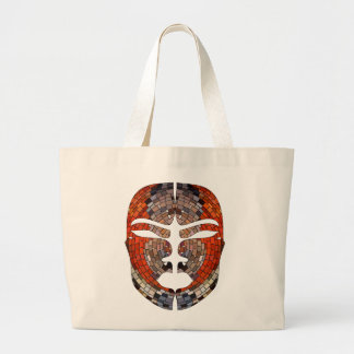 Abstract imitation of African mask Large Tote Bag