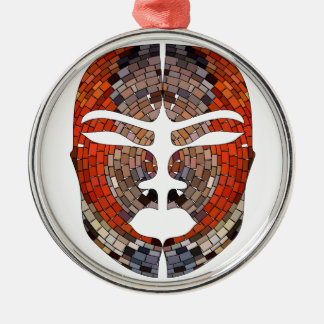 Abstract imitation of African mask Metal Ornament
