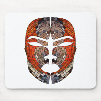 Abstract imitation of African mask Mouse Pad