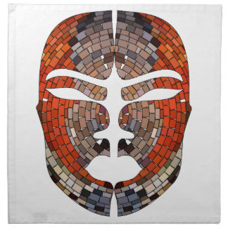 Abstract imitation of African mask Napkin