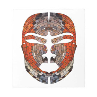 Abstract imitation of African mask Notepad