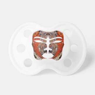 Abstract imitation of African mask Pacifier