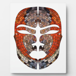 Abstract imitation of African mask Plaque