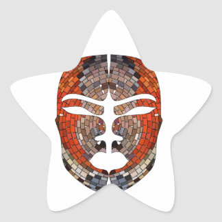 Abstract imitation of African mask Star Sticker