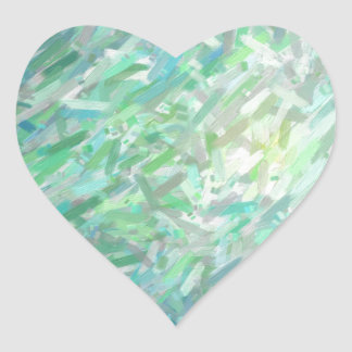 Abstract Imposto Color Composition 2 Heart Sticker