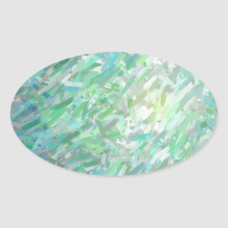 Abstract Imposto Color Composition 2 Oval Sticker