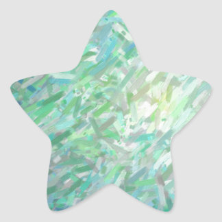 Abstract Imposto Color Composition 2 Star Sticker