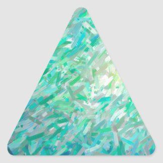 Abstract Imposto Color Composition 2 Triangle Sticker