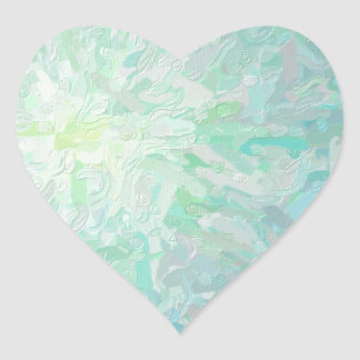 Abstract Imposto Color Composition Heart Sticker