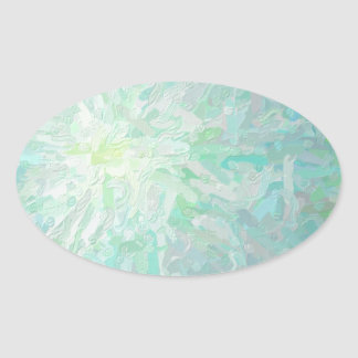 Abstract Imposto Color Composition Oval Sticker