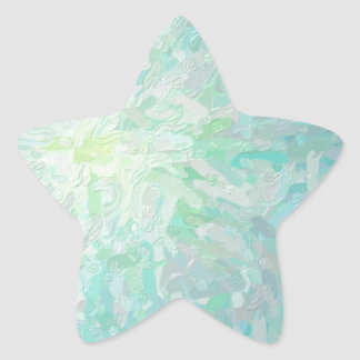 Abstract Imposto Color Composition Star Sticker