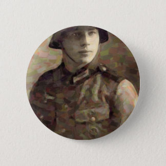 Abstract impressionist painting of A Young Soldier 2 Inch Round Button