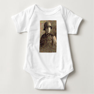 Abstract impressionist painting of A Young Soldier Baby Bodysuit
