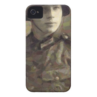 Abstract impressionist painting of A Young Soldier Case-Mate iPhone 4 Cases