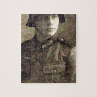 Abstract impressionist painting of A Young Soldier Jigsaw Puzzle